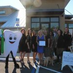 Chamber Ambassadors gather with the Emerald Coast Dental Spa staff to celebrate their grand opening.
