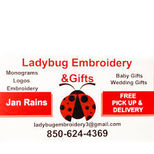 Ladybug Embroidery Designs & Gifts