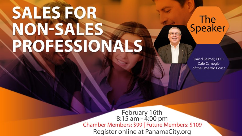 Register for the Sales Course for Non-Sales Professionals workshop online at PanamaCity.org