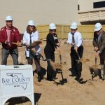 Chamber Ambassadors gather to celebrate the Gulf Coast Regional Medical Center ground breaking.