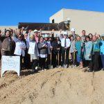 Chamber Ambassadors gather to celebrate the Gulf Coast Regional Medical Center ground breaking.