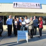 Chamber ambassadors gather to celebrate the grand opening of My Girlfriend's Boutique & Salon.