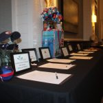 Silent auction items donated by members to bid on.