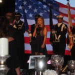 Mia Carroll sings National Anthem at 2018 Annual Dinner and Awards Ceremony.