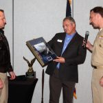 NSA-PC officials present 2017 MAC Chairman, Robert Carroll, a token of appreciation for his service to the military community.