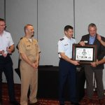 Air Force Officials present Robert Carroll, 2017 MAC Chairman, a token of appreciation for his service to the military community.