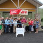 Chamber ambassadors gather to celebrate the grand opening of Ace Hardware.
