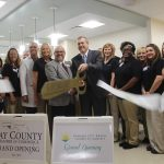 Chamber Ambassadors gather to celebrate the grand opening of the Gulf Coast Regional Medical Center Postpartum Unit.