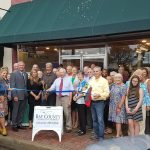 Chamber ambassadors gather to celebrate the grand opening of the Historical Society.