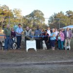 Chamber ambassadors gather to celebrate the grand opening of the City of Parker's Dog Park.