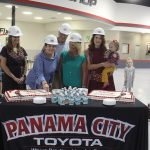 Chamber Ambassadors gather to celebrate the Panama City Toyota ground breaking.