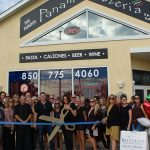 Chamber ambassadors gather to celebrate the grand opening of Panama Pizzeria.