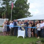 Chamber Ambassadors gather to celebrate the grand opening of the Southerland Event Center.