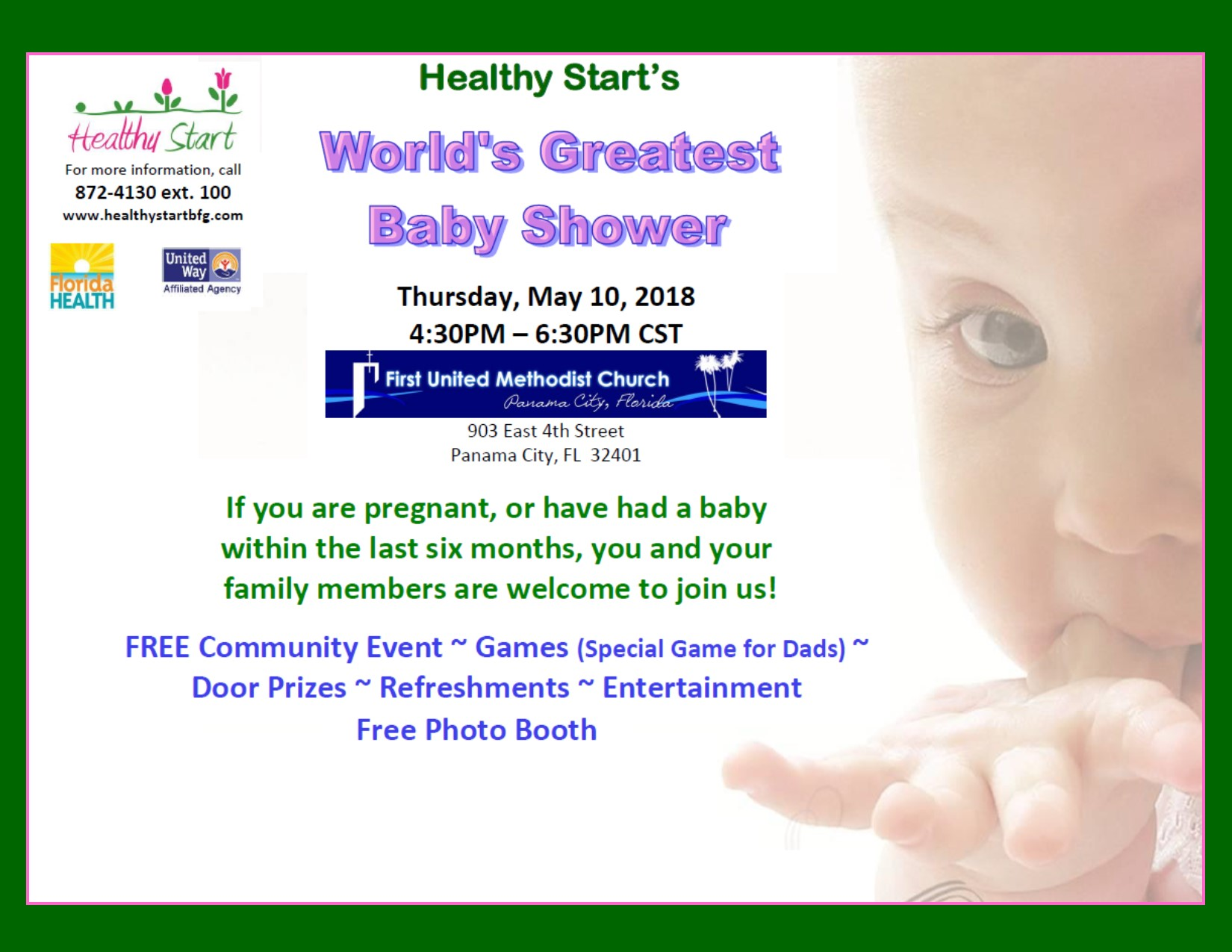 Healthy Starts Worlds Greatest Baby Shower Bay County Chamber Of