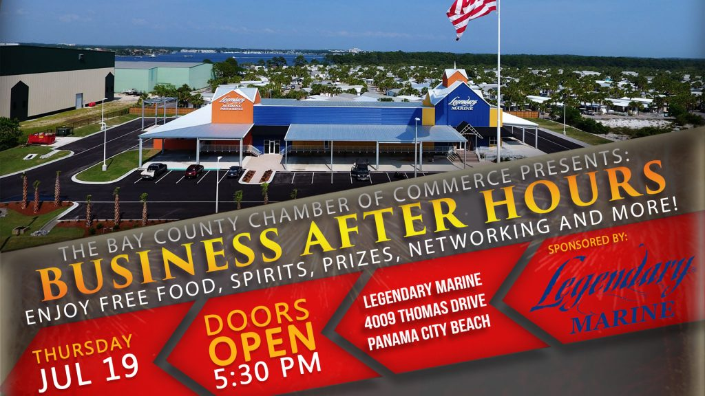 The July 2018 Business After Hours will be held at Legendary marine on July 19th at 5:30 pm.