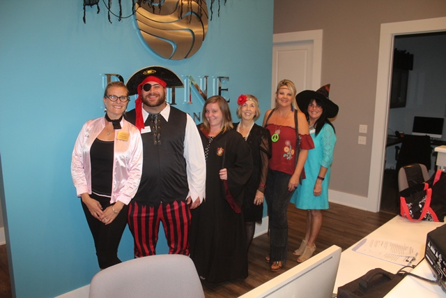Chamber Members dress up in costumes for Business After Hours.