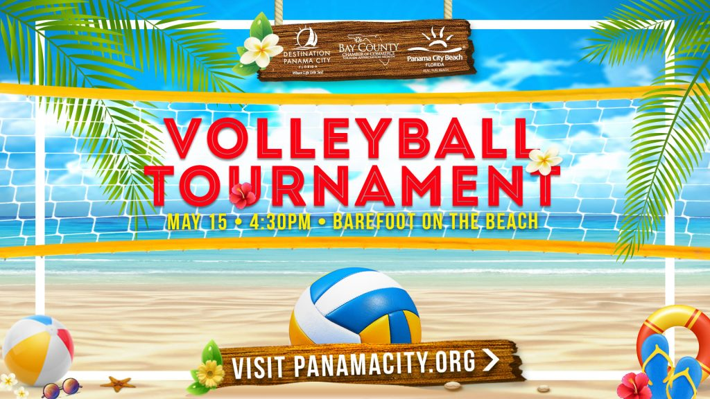Celebrate Tourism with a Volleyball Tournament on May 15th at 4:00 at Barefoot on the Beach