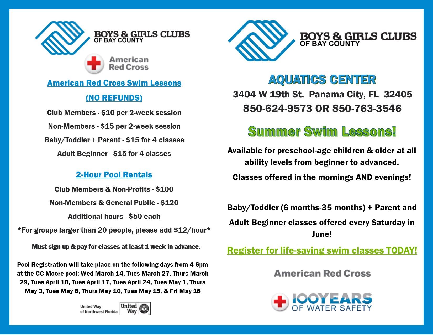 Boys Girls Clubs Swim Program Registration Day Bay County