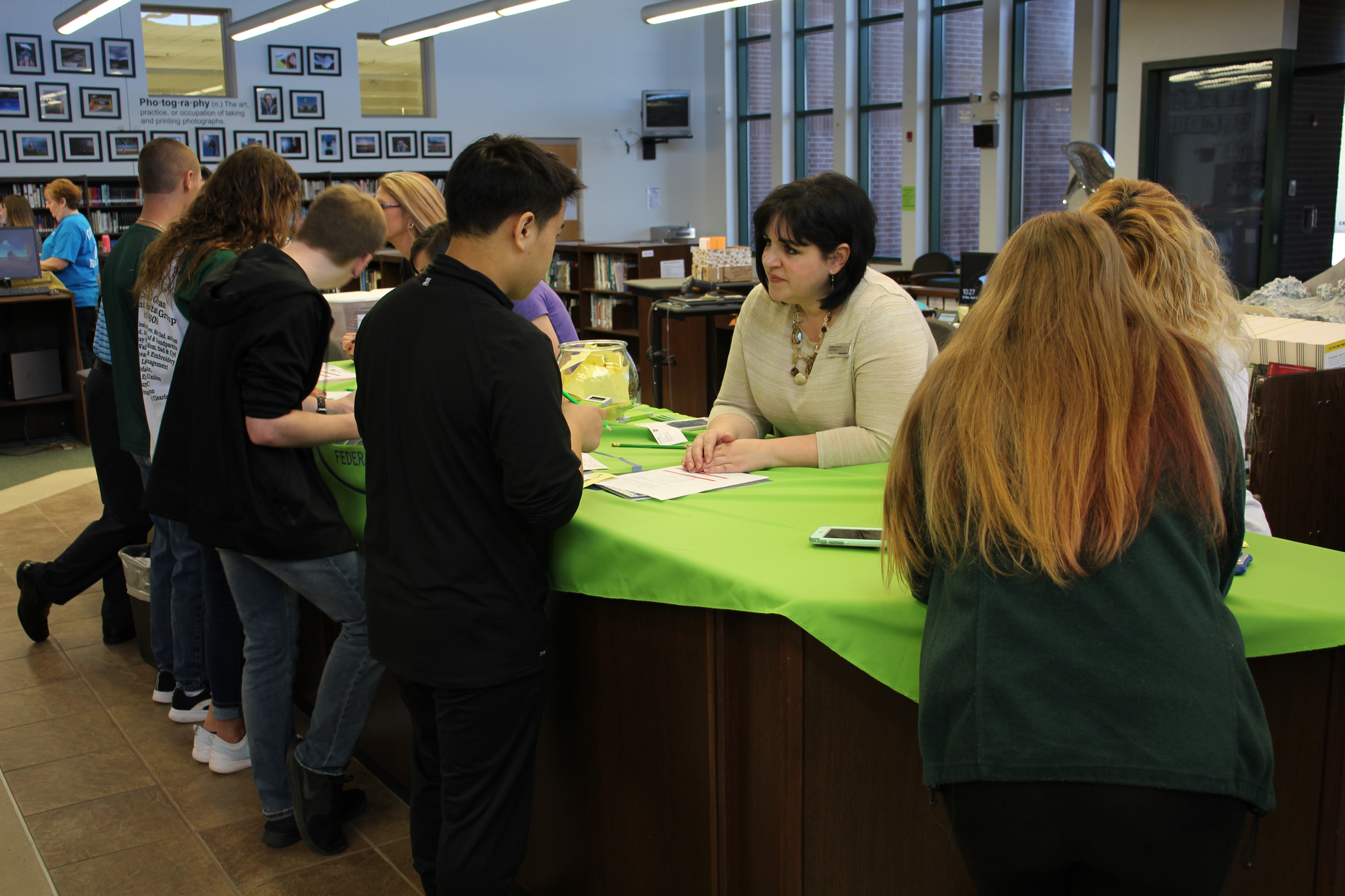 Students participate in Mad City Money.