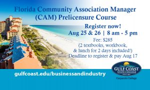 Florida Community Association Manager (CAM) Prelicensure Course