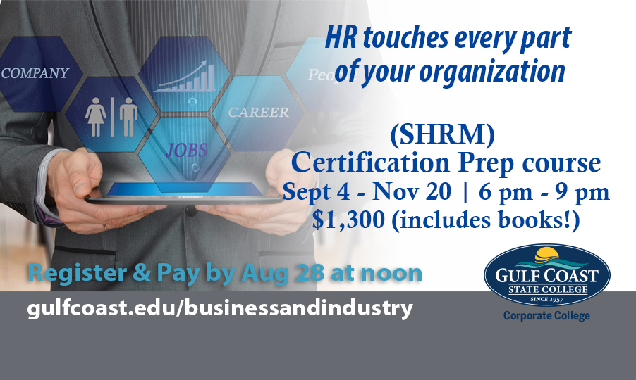 Shrm Certification Prep Course Bay County Chamber Of Commerce