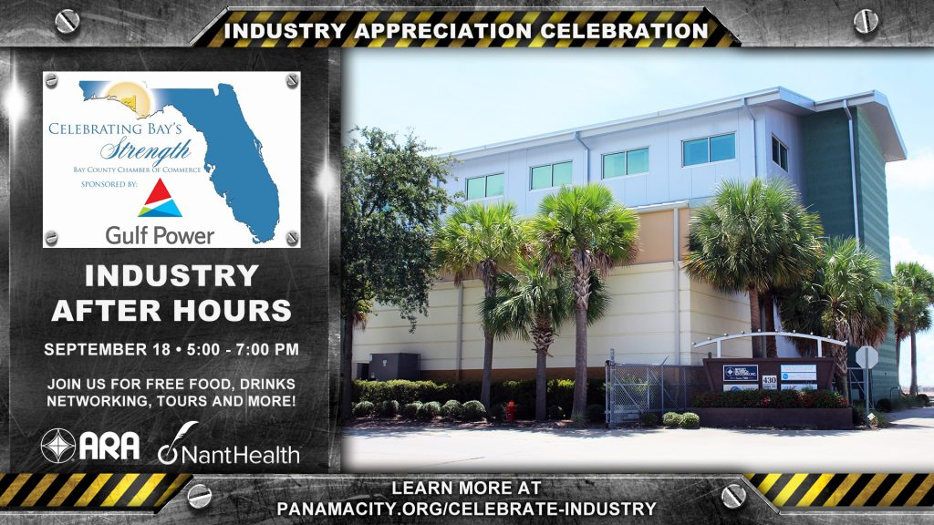 Industry After Hours will be held on September 18, 2018 from 5:00 - 7:00 pm.