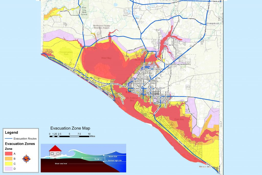 Panama City Map Of Florida.Bay County Issues Mandatory Evacuation Orders For Zones A B And C