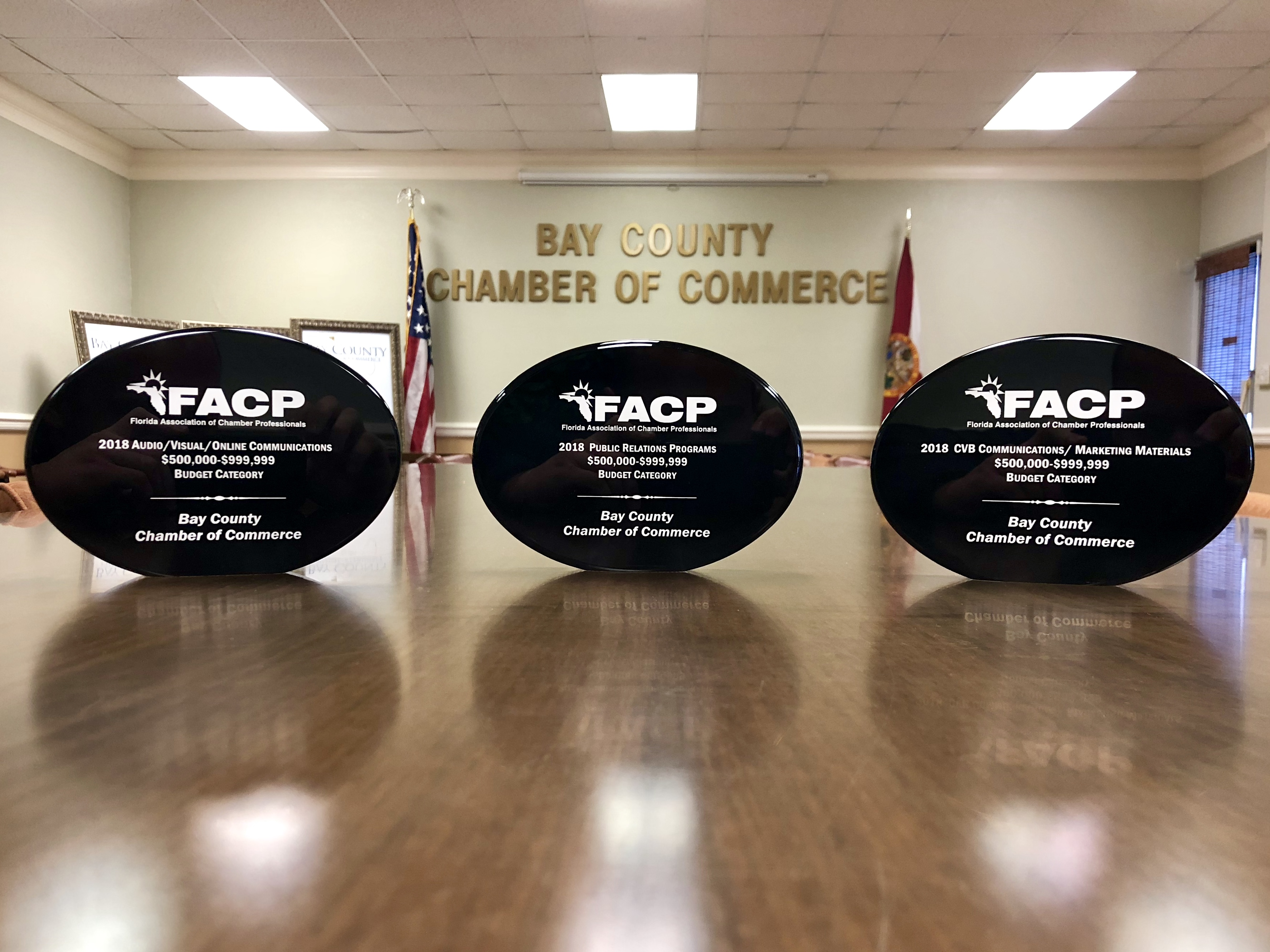 Bay County Chamber of Commerce wins 2018 Communications Awards.