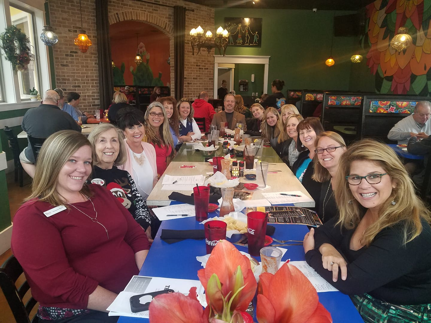 Members of the Ambassadors Committee enjoy a lunch meeting at Los Antojitos.