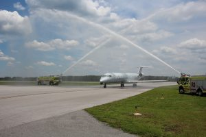 ECP Welcomes the first American Airlines flight to its facility.
