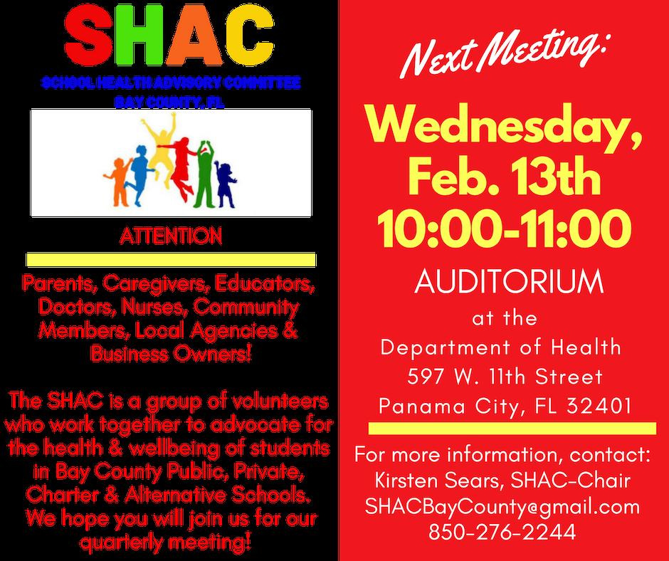 SHAC Meeting