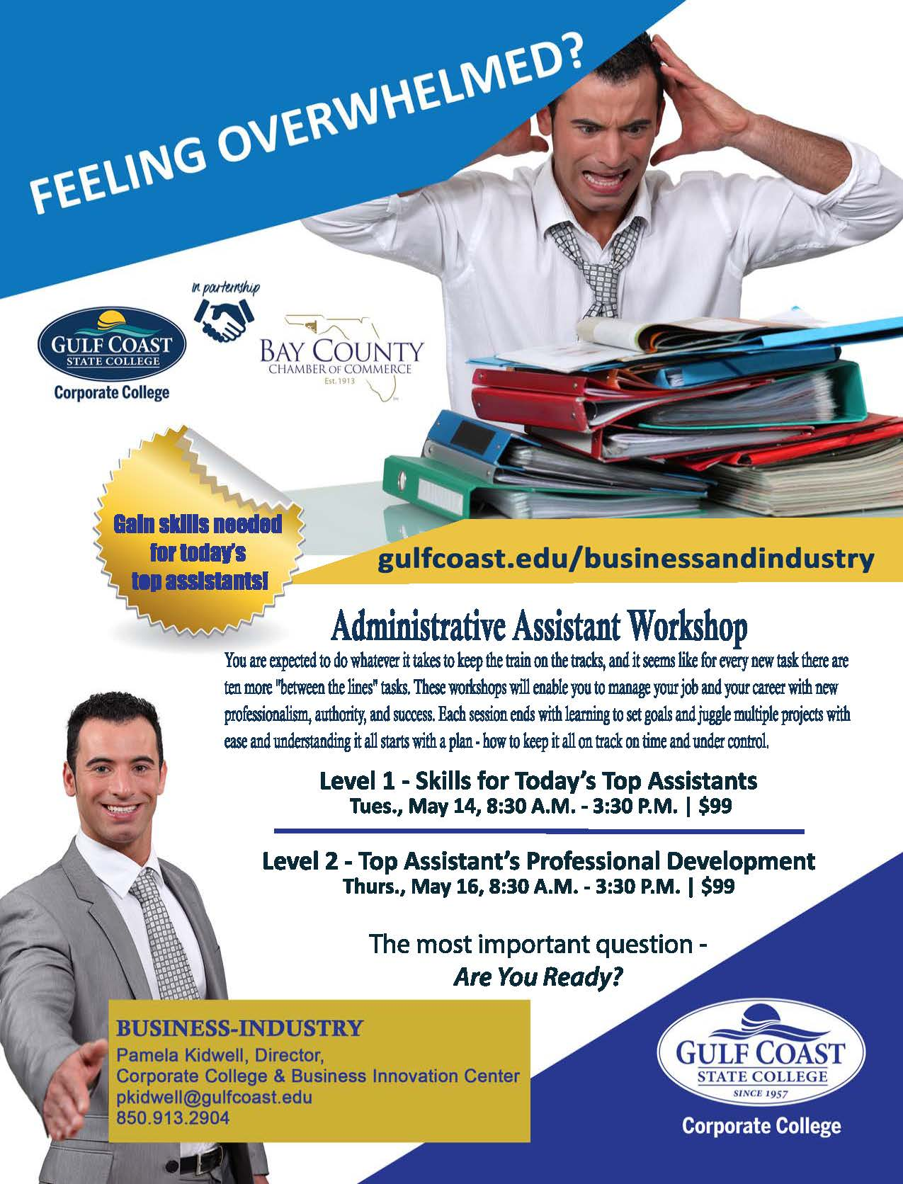 The Administrative Assistant workshop offers the exciting opportunity to learn new, practical skills to help advance your career.